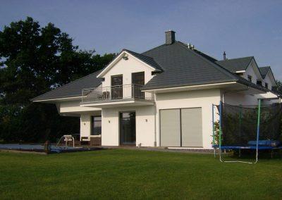 Haus gehobene Klass Rückansicht